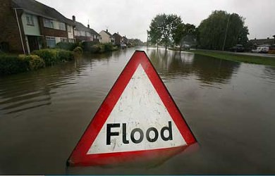 Flooding due to blockages in the sewer